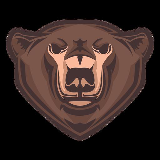 Logotipo de cabeza de oso grizzly
