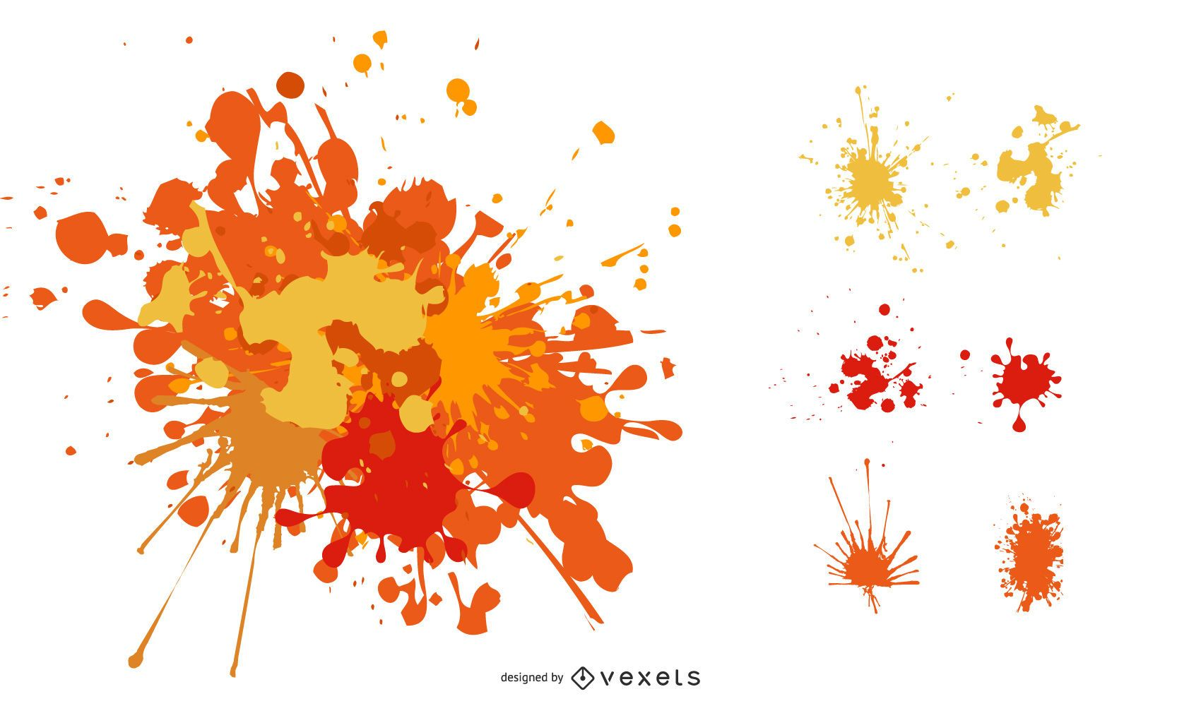 Splats and hatching free vector