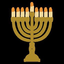 Menorah candelabro plano de Hanukkah