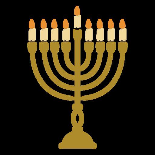 Menorah candelabro plano de Hanukkah Transparent PNG