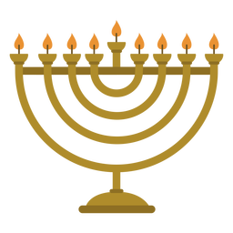 Hanukkah menorah candelabrum illustration