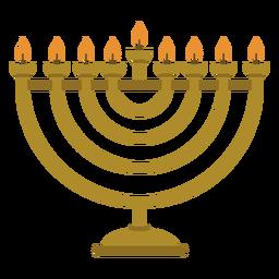 Ilustração de candelabro de menorá de Hanukkah