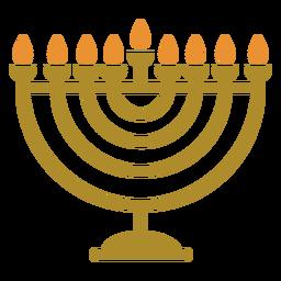 Hanukkah menorah jewish flat