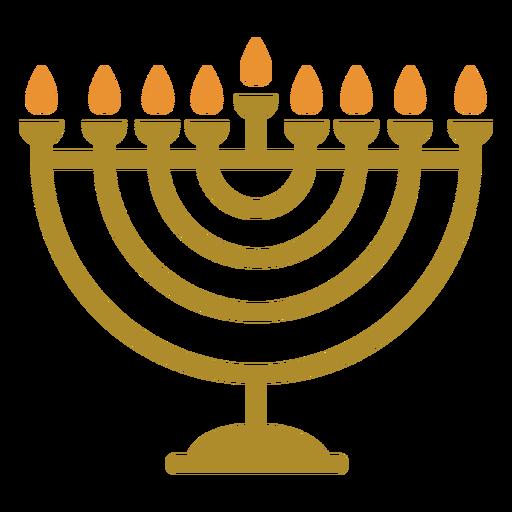 Hanukkah menorah plano judío