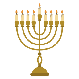 Hanukkah menorah jewish illustration