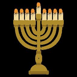Ilustración judía de la menorah de Hanukkah
