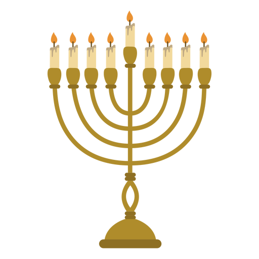 Hanukkah menorah jewish illustration