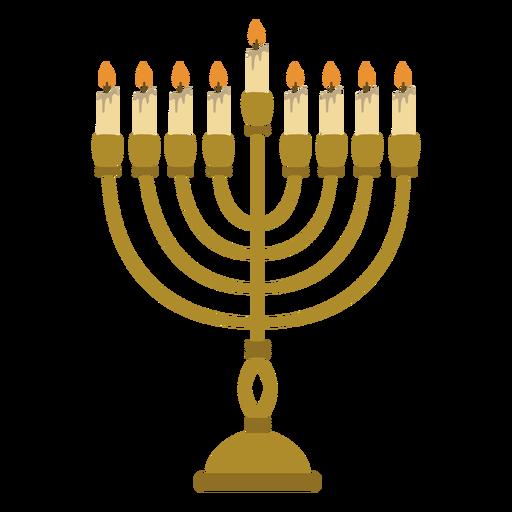Ilustración judía de la menorah de Hanukkah Transparent PNG