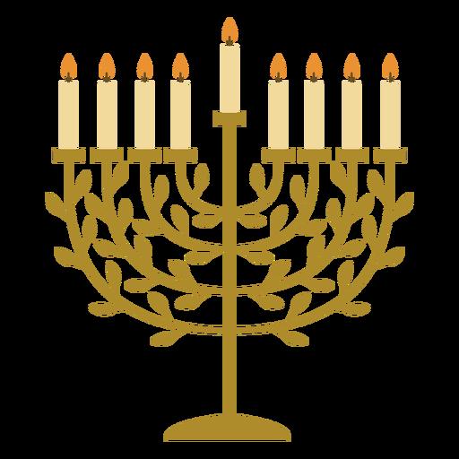 Hanukkiah candelabrum flat Transparent PNG