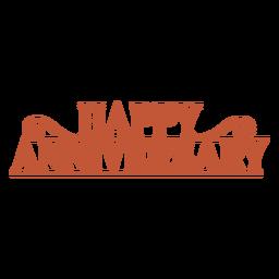 Happy anniversary lettering anniversary