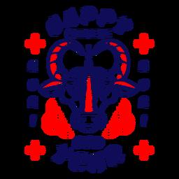 Feliz año nuevo chino 2021 insignia