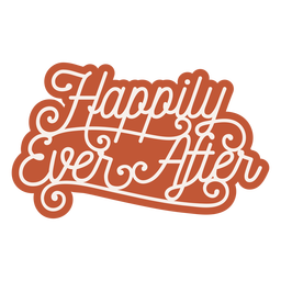 Happy ever after lettering