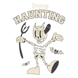 Happy haunting halloween badge