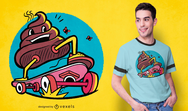 Skateboarding poop t-shirt design