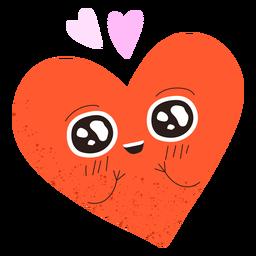 Doodle de coração apaixonado