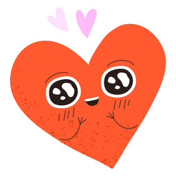 Heart in love doodle
