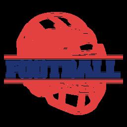 Insignia de fútbol americano casco