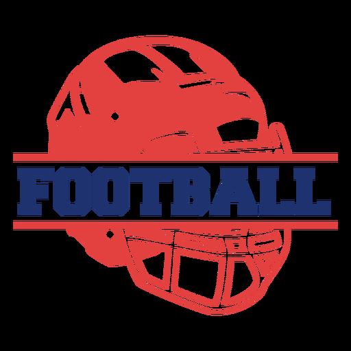 Helmet american football badge