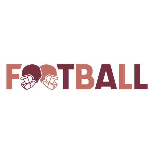 Helmets american football lettering