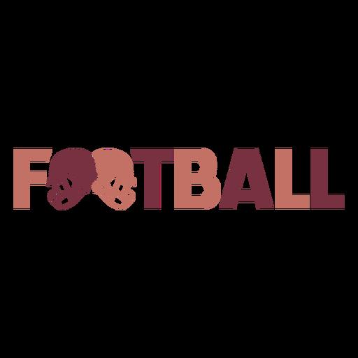 Letras de futebol americano para capacetes