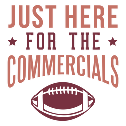 Here for the commercials lettering