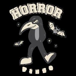 Horror vibes badge