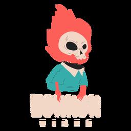 Horror vibes creature badge