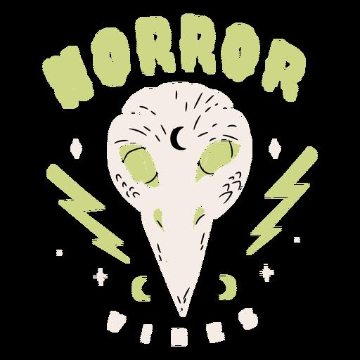 Horror vibes halloween badge