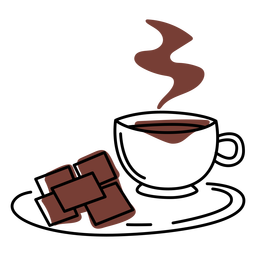 Trazo de color de bebida de chocolate caliente