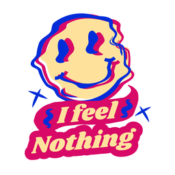 No siento nada pegatina
