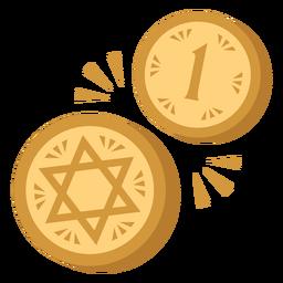 Monedas israelíes planas