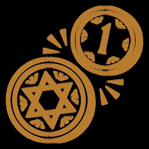 Israeli coins stroke Transparent PNG