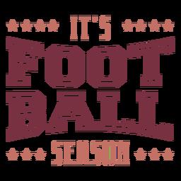É letras da temporada de futebol
