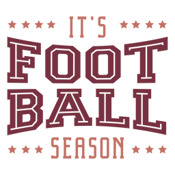It's football season lettering