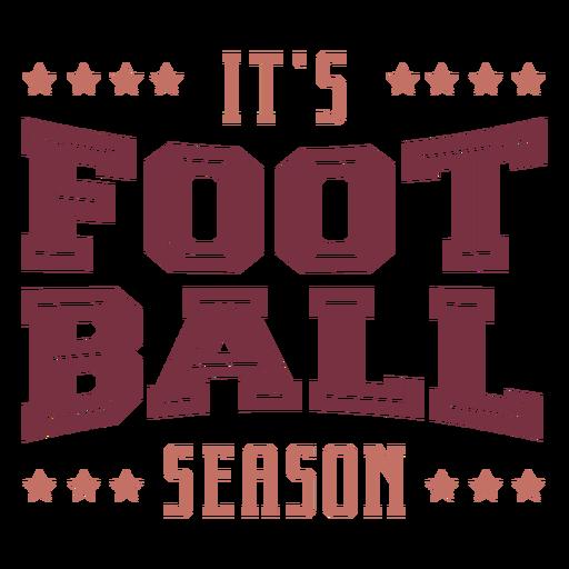 It's football season lettering