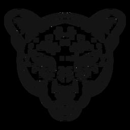 Jaguar head high contrast