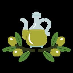 Ilustración de jarra de aceite de oliva