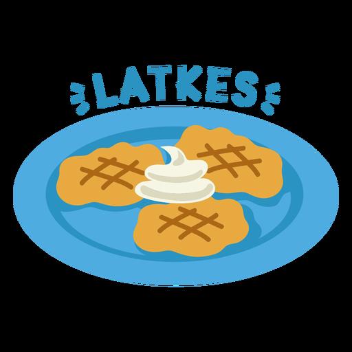 Latkes plate illustration
