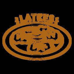 Latkes plate stroke