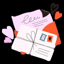 Doodle de cartas de amor