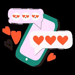 Doodle de texto amoroso para celular