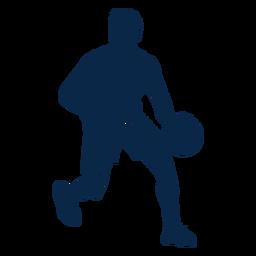 Atleta jogador de basquete masculino cortado