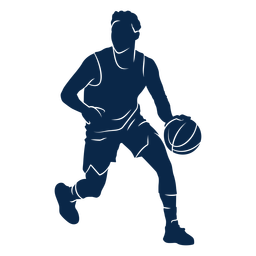 Male basketball player athlete cut out