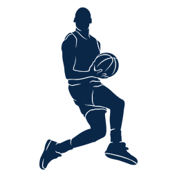 Male basketball player playing cut out