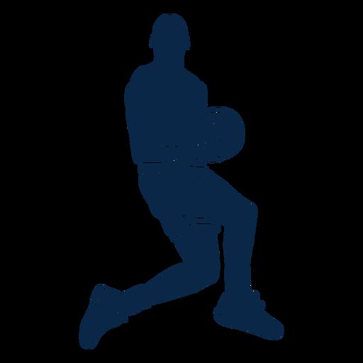 Jogador de basquete masculino jogando cut out