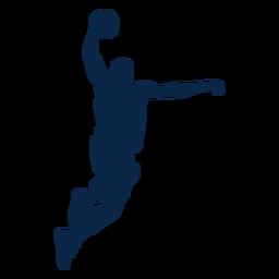 Jugador de baloncesto masculino disparar cortar