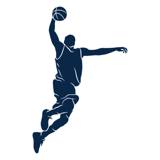 Male basketball player shoot cut out