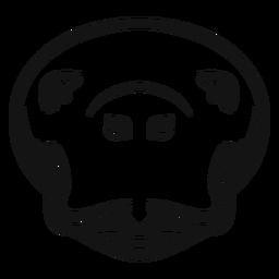 Alto contraste da cabeça do peixe-boi