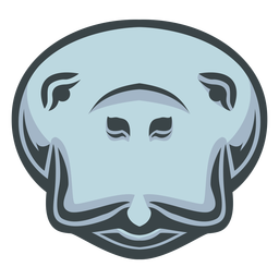 Logotipo da cabeça do peixe-boi