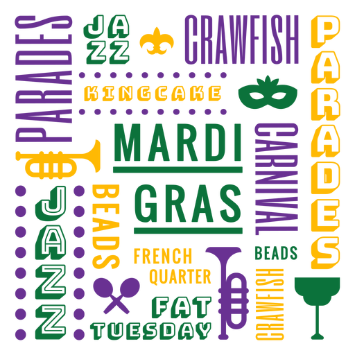Composición de la insignia de mardi gras